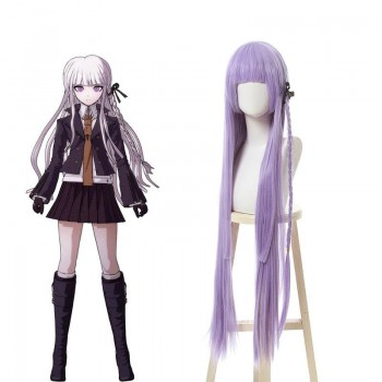 Danganronpa Kyouko Kirigiri Purple Long Cosplay Wigs