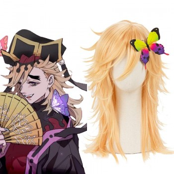 Demon slayer Douma Blonde Long Cosplay Wigs
