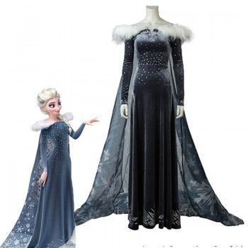 Frozen Adventure Elsa the Snow Queen Movie Cosplay Costumes