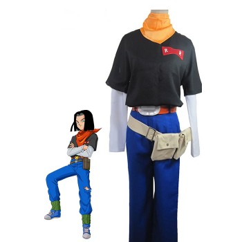 Dragon Ball Z Android No.17 Cosplay Costume