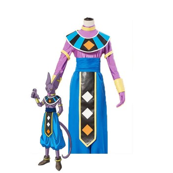 Dragon Ball Super Beerus Blue Anime Cosplay Costumes
