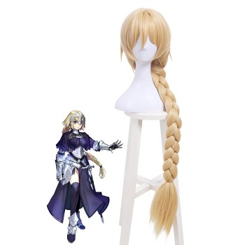 Fate/Grand Order Joan of Arc Blonde Synthetic Long Cosplay Wigs Braids