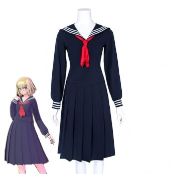 Fate Grand Order Joan of Arc Janpanese Sailor Uniform Cosplay Costume