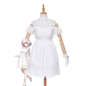 Fate Grand Order Matthew Kyrielite White Dress Anime Cosplay Costumes
