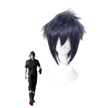 Final Fantasy Noctis Black Mixed Grey and Blue Cosplay Wigs