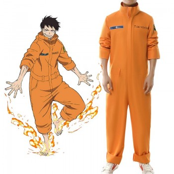 Fire Force kusakabe shinra Full member Cosplay Costume