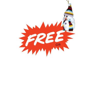 Free Gift Snowman Decoration for Christmas Day
