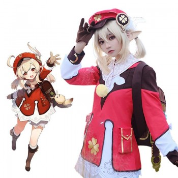 Game Genshin Impact Klee Cosplay Costume