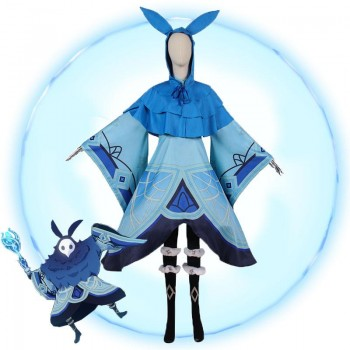Game Genshin Impact Abyss Mages Hydro Cosplay Costume