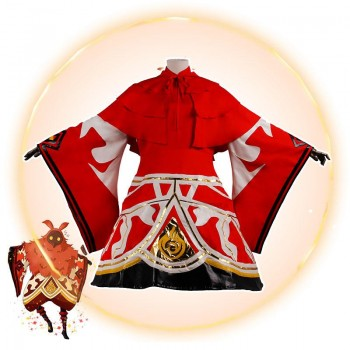Game Genshin Impact Abyss Mages Pyro Cosplay Costume