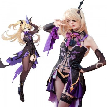 Game Genshin Impact Fischl Cosplay Costume