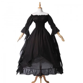 Women Renaissance Victorian Medieval Long Vintage Dress