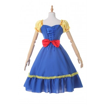 Snow White Blue Dress Anime Cosplay Costumes