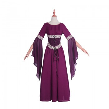 Women Girl Retro Cotton And Flax Chiffon Long Dress