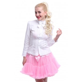 Women White Lolita Long Sleeve Vintage Bow Tie Shirt Blouses Top