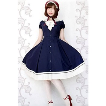 Women Lolita Princess Dress of Aristocrat Retro Long Sleeves