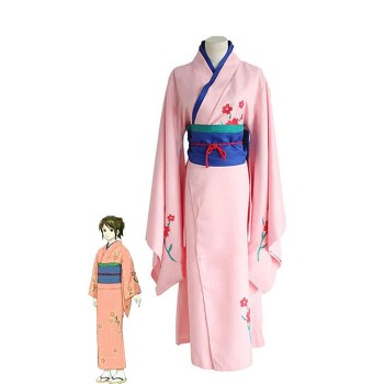 Gintama Shimura Tae Cosplay Costume With Bright Color