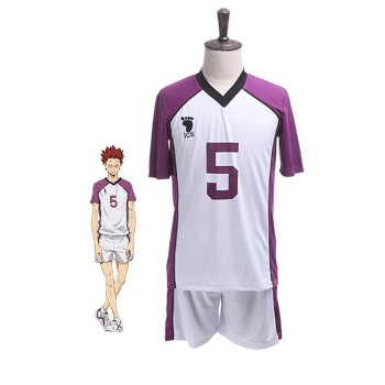 Haikyū!! Karasuno High School vs Shiratorizawa Academy Satori Tendō Number 5 Volleyball Sportswear Cosplay Costumes