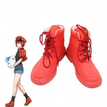 Hataraku Saibou Cells At Work AE3803 Red Blood Cell Cosplay Shoes
