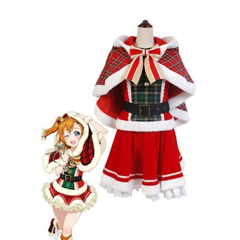 Love Live Kousaka Honoka Christmas Dresses Cosplay Costumes