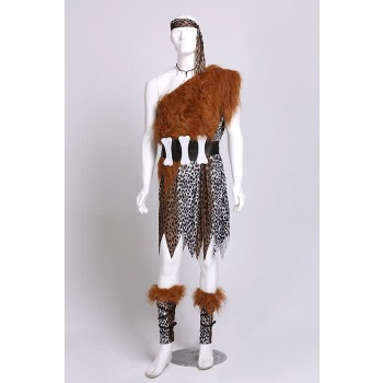 Halloween Adult male masquerade party cosplay bar performance hunter leopard savage costume