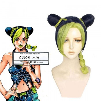 Jolyne Cujoh Blue Green Cosplay Wigs