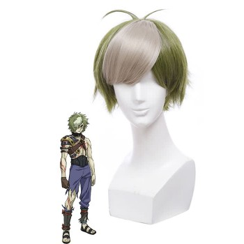 Kabaneri of the Iron Fortress Ikoma Moss Green Cosplay Hairs Wigs Male Short Wigs
