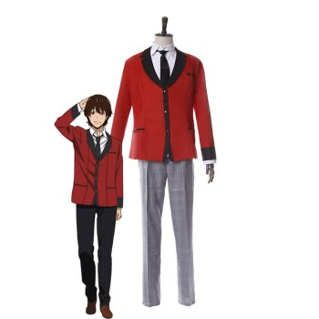 Kakegurui Ryouta Suzui Red Uniform Cosplay Costumes