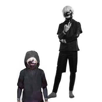 Tokyo Ghoul Ken Kaneki Anime Cosplay Costumes Battle Suits