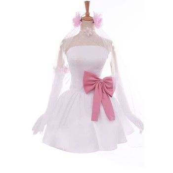 Love Live! Nico Yazawa Anime Cosplay Costumes White Little Formal Dress Bridesmaid Dresses