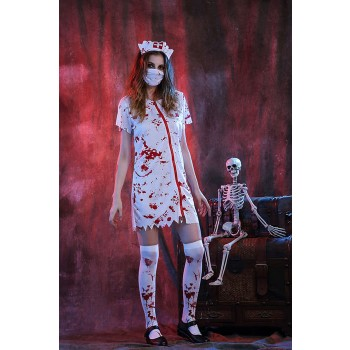Halloween Vampire Cosplay Costumes White Nurse Uniforms