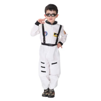 Children's Halloween Party Costume White Astronaut Suits