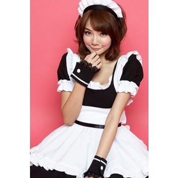 Halloween Costumes For Women Black and White Maid Outfit Cosplay Costumes