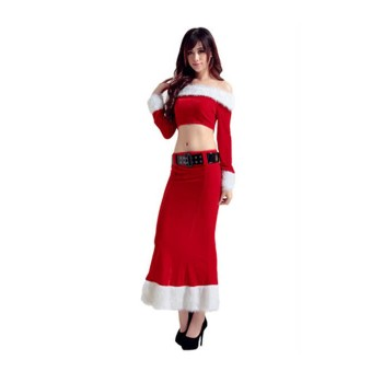 New Style Women Girls Santa Claus Costumes Christmas Costumes