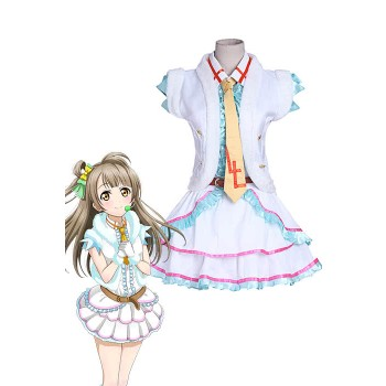 Love Live! Kotori Minami Snow Halation Cosplay Costume White Dress