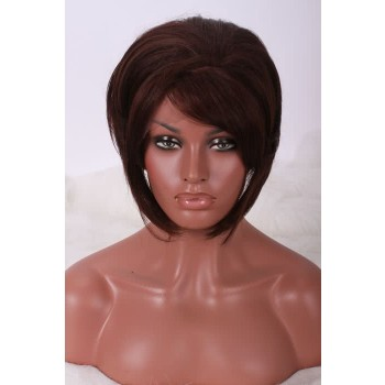12''  Short brown Women Straight fashion Unisexy Lace Front Wigs