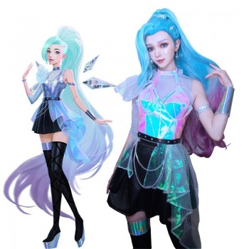 LOL KDA ALL OUT Seraphine Superstar Cosplay Costume