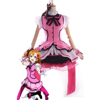 Love Live! Kira-Kira Sensation Honoka Kōsaka Anime Cosplay Costumes Stage Dresses