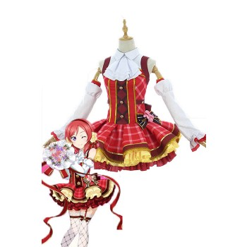 Love Live Bouquet Awaken Nishikino Maki Red Dress Anime Cosplay Costumes