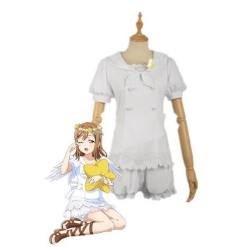 Love Live Sunshine Angel Aqours Unawaken Hanamaru Kunikida White Dress Anime Cosplay Costumes