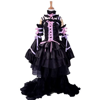 Chobits Cosplay Costumes Black Princess Full Dress