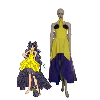 Sailor Moon Luna Human Form Cosplay Costume Halloween Clothing