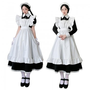 Maid Outfit Cute Uniform Long Sleeve And Short Sleeve Cosplay Costume