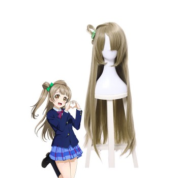 Love Live Minami Kotori Long Straight Flaxen Cosplay Wigs With Bowknot