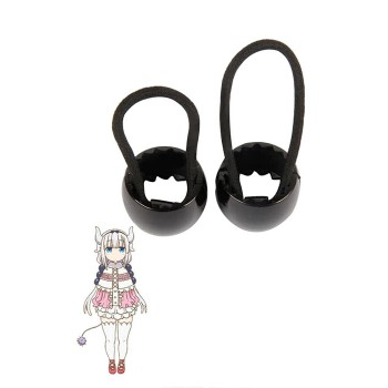 Miss Kobayashi's Dragon Maid Kanna Kobayashi Black Anime Cosplay Head Ropes