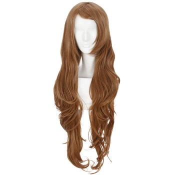 CodeGeass Nunnally V Britannia Cosplay Wigs 80CM Long Brown Hair Wigs