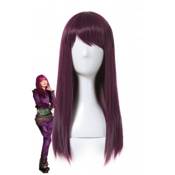 Descendants 2 Mal Cosplay 50cm Purple Color Movie Wigs