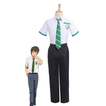 Movie Your Name Taki Tachibana School Uniforms Cosplay Costumes