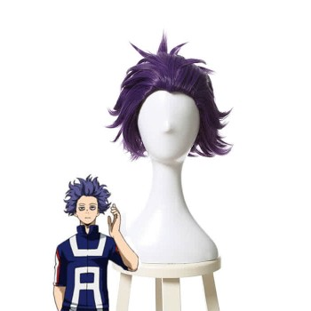 My Hero Academia Shinsou Hitoshi Short Purple Cosplay Wigs