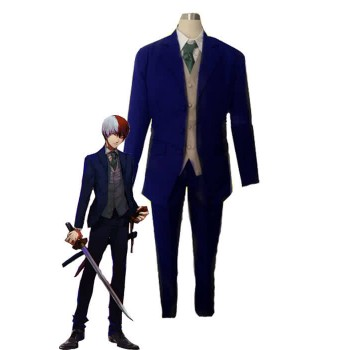 My Hero Academia Shōto Todoroki Anime Blue Suit Cosplay Costumes